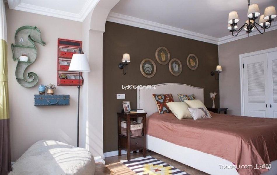 2019美式卧室装修设计图片 2019美式床装修效果图片