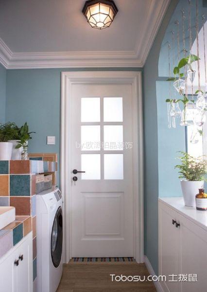 卫生间白色吊顶美式风格装潢设计图片