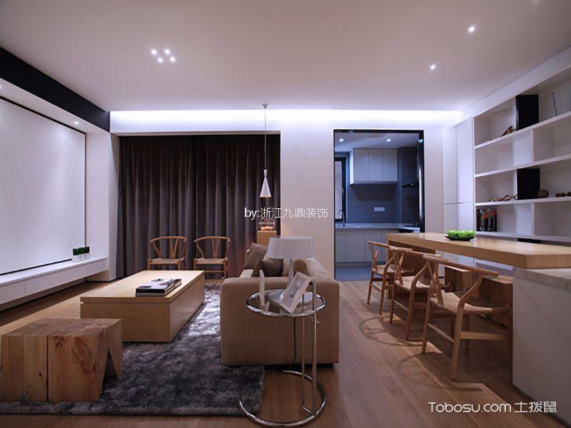 华宇楠苑120平米现代简约风格四居室装修效果图
