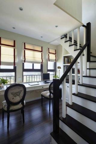 2019现代简约书房装修设计 2019现代简约楼梯装修效果图片