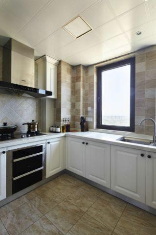 厨房白色吊顶现代简约风格效果图