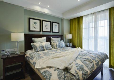 卧室绿色照片墙现代简约风格装饰效果图