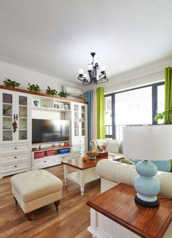 客厅窗帘田园风格装修设计图片