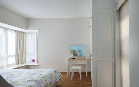 儿童房白色窗帘现代简约风格装潢效果图