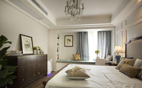 卧室白色美式风格装修图片