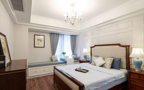 卧室咖啡色美式风格装饰设计图片
