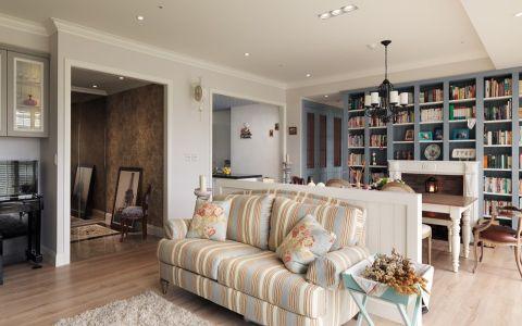 客厅彩色美式风格装修效果图
