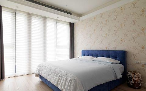卧室咖啡色窗帘美式风格装潢效果图