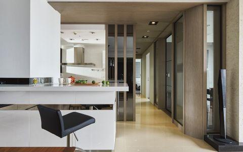 厨房白色吧台现代风格装修图片