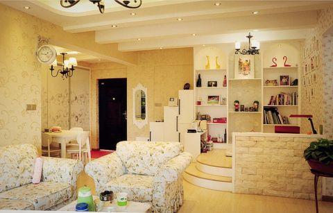 朴素温馨白色客厅装饰设计