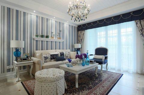 美轮美奂客厅地中海装饰效果图
