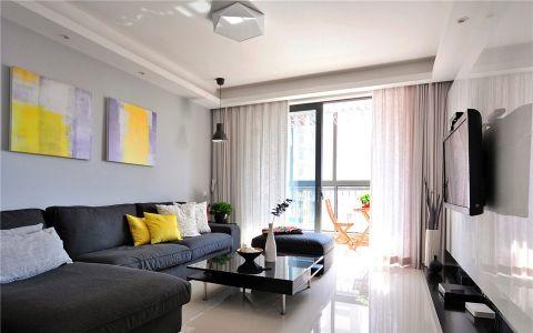 明发国际110平现代简约二居室装修效果图
