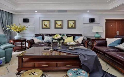 客厅白色照片墙家装设计