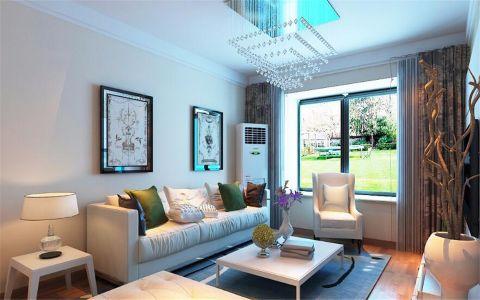 客厅窗帘现代简约装潢效果图