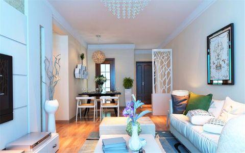 古朴现代简约白色沙发装修美图