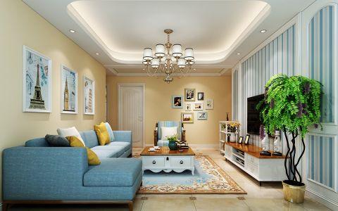 完美美式白色吊顶室内装修图片