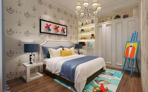 美式儿童房床装饰图