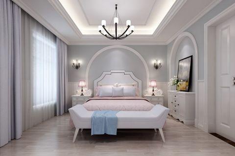 2019美式卧室装修设计图片 2019美式窗帘装修图