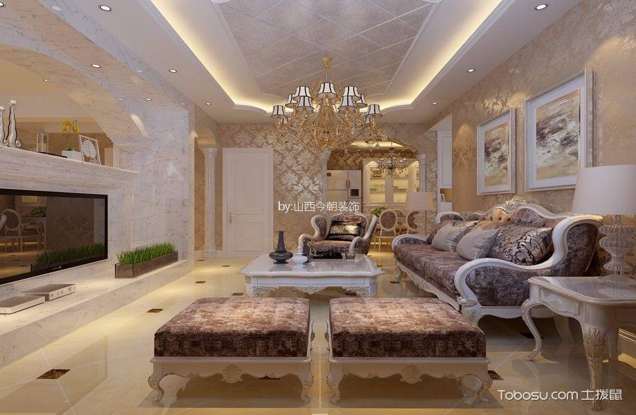 欧式风格137平米大户型新房装修效果图