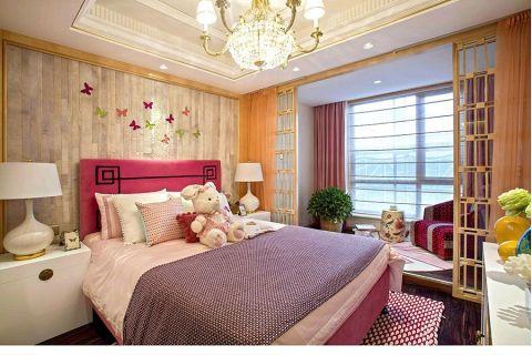卧室白色床头柜新中式风格装修效果图