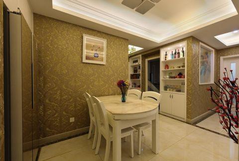餐厅白色餐桌现代风格装潢设计图片