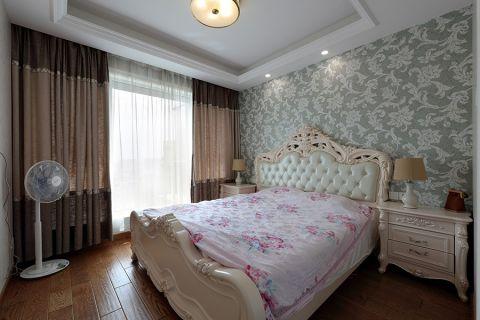 卧室白色床头柜混搭风格装饰图片