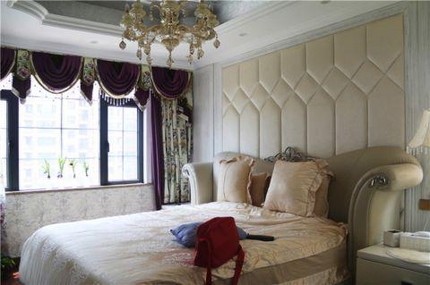 淡雅红色卧室装修实景图片