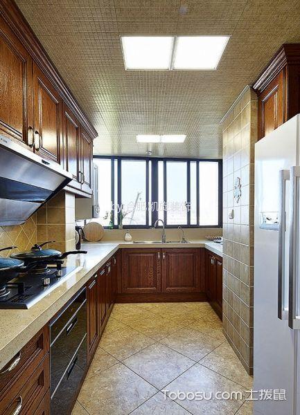 厨房 吊顶_金色池塘中式风格100平米装修效果图
