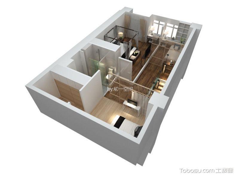 卧室黄色地板砖新中式风格装饰设计图片