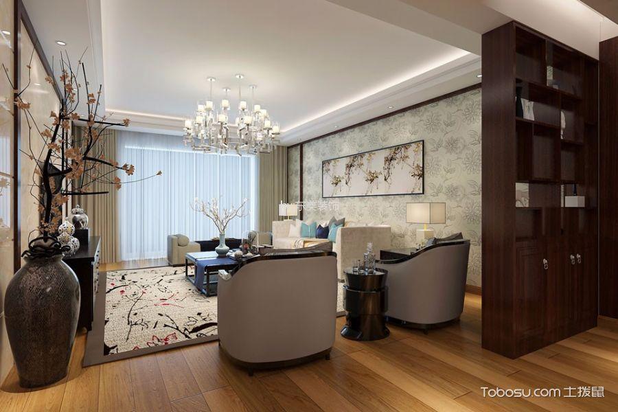 2018中式客厅装修设计 2018中式博古架装修设计图片