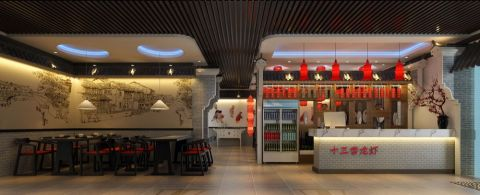 合肥1912街区红灯照十三香龙虾旗舰店餐馆装修效果图