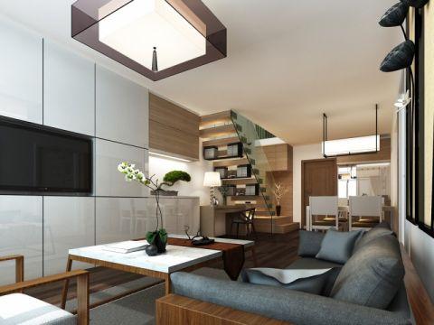新中式风格60平米公寓新房装修效果图