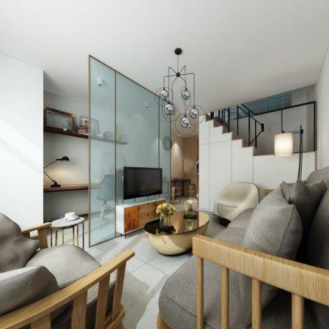 北欧风格40平米公寓室内装修效果图