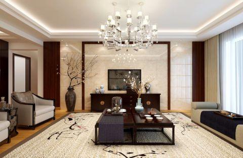 客厅背景墙日式风格装修效果图