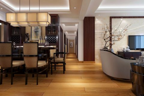 餐厅走廊日式风格装饰效果图