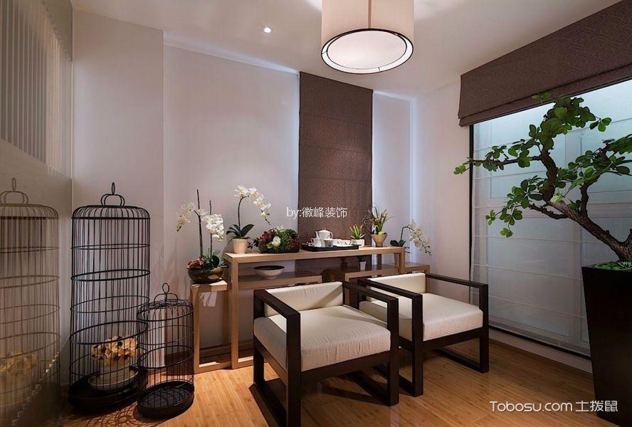 现代中式风格90平米三室两厅新房装修效果图