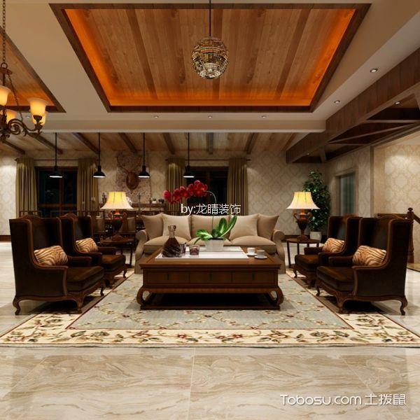 欧式风格500平米别墅室内装修效果图