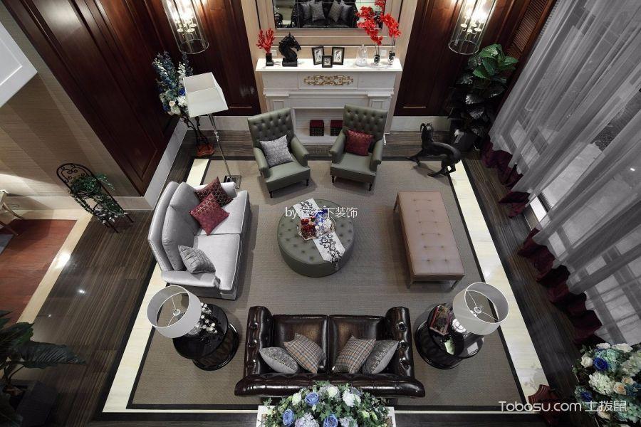 美式风格120平米跃层室内装修效果图