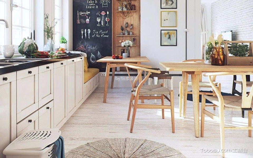 餐厅白色照片墙北欧风格装饰图片