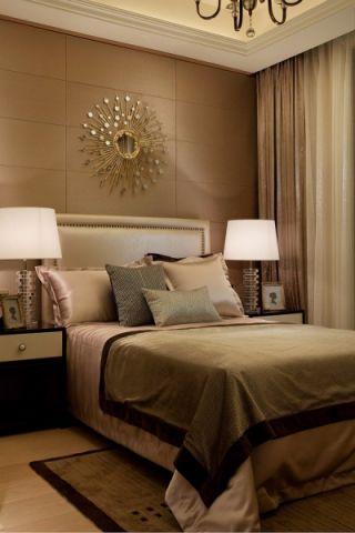卧室米色现代欧式风格装潢设计图片