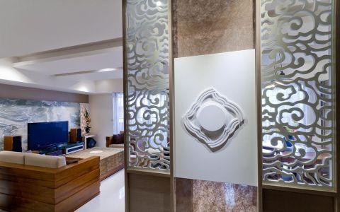 玄关背景墙新中式风格装修设计图片