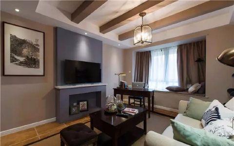 和谐盛世130平现代简约三居室装修效果图