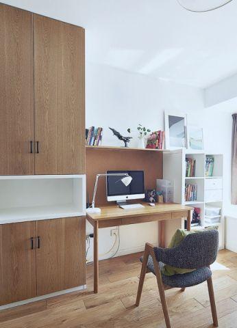 书房背景墙北欧风格装潢设计图片