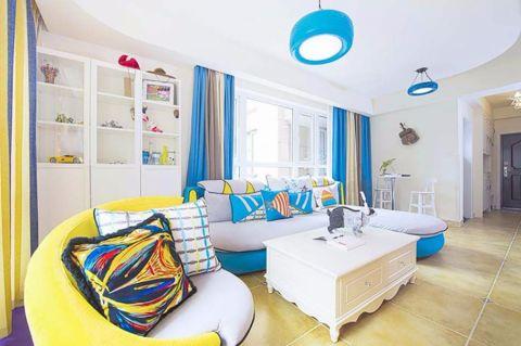 爱颐湾100平地中海风格三居室装修效果图