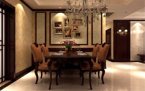 餐厅照片墙美式风格装饰效果图