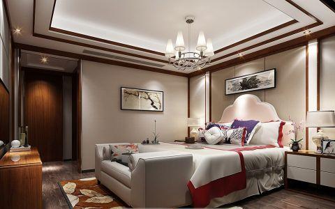 宋都南郡国际100平新中式风格三居室装修效果图