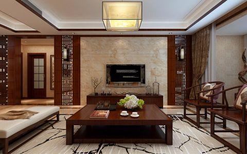 东城逸家140平新中式三居室装修效果图