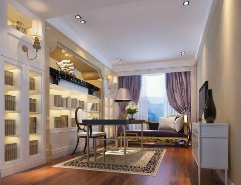 书房窗帘欧式风格装饰效果图