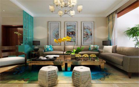 新中式风格160平米四室两厅新房装修效果图