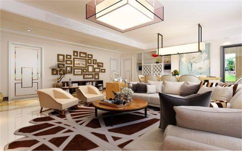现代简约风格160平米四室两厅新房装修效果图